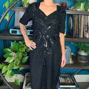 Vintage 80s Robert Anthony beaded party dress